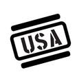 usa black stamp vector image