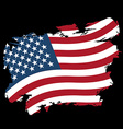 USA flag grunge style on black background Brush vector image vector image