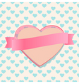Valentines heart with a blank ribbon banner vector image vector image