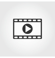 video icon flat design vector image vector image
