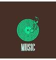 vintage with vinyl disc icon vector image