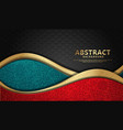 wave abstract overlap layer on black stripes vector image vector image