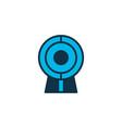web cam icon colored symbol premium quality vector image