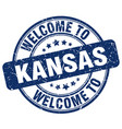 welcome to kansas vector image vector image