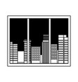 window urban city buildings view isolated design vector image vector image