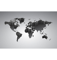 World map with 3d-effect vector image vector image