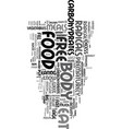 your food can prematurely age you text word cloud vector image vector image