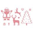 cross stitch christmas symbols vector image