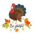 Thanksgiving day background with autumn leaves vector image