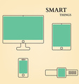 Abstract Flat TV Tablet PC Phone Watch vector image