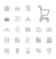 22 retail icons vector image vector image