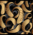 3d paisley seamless pattern modern vector image
