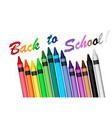 back to school with crayons vector image vector image