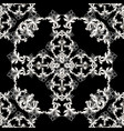 baroque vintage seamless pattern black and white vector image vector image