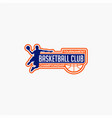 basketball club badge logo-10 vector image vector image