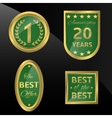 Best of the best icon vector image