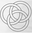 borromean rings vector image vector image