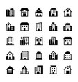 buildings icons 3 vector image vector image