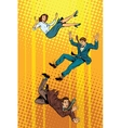Business man and woman falling down vector image vector image