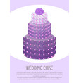 cake of purple color with rose vector image