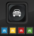Car Icon symbol Set of five colorful stylish vector image vector image