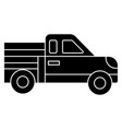 car pickup icon black sign vector image