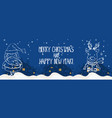 cartoon banner for holiday theme with santa claus vector image vector image