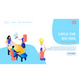 catch big idea horizontal banner teamwork vector image