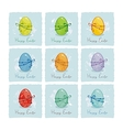 Colorful Easter Eggs Set vector image