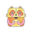 cute bear colorful cloth patch applique for vector image vector image