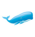 cute whale smiling vector image
