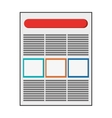 diagram document icon vector image vector image
