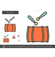 Drum line icon vector image vector image