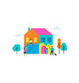 family is painting home concept design vector image vector image