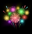 festival firework colorful carnival fireworks vector image vector image