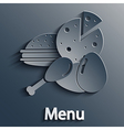 food modern background Eps10 vector image vector image