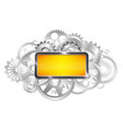 frame for text gears of the mechanism industrial vector image vector image