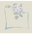 frame rose vector image vector image