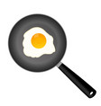 fried egg on a frying pan vector image vector image