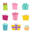 Gift box icon isolated set vector image