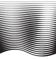 Halftone Pattern from Lines vector image vector image