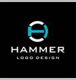 hammer logo vector image vector image