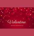 heart bokeh red background valentine love vector image vector image