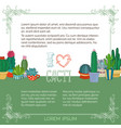 home plants cactus in pots and cups vector image