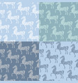 horse pattern template vector image vector image