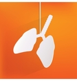 Human lung icon Medical background Health care vector image