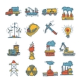 Industrial sketch icon set vector image vector image