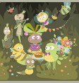 insects celebrate birthday bright children vector image vector image