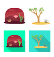 isolated object landscape and nature logo vector image vector image