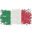 Italian grunge tile flag vector image